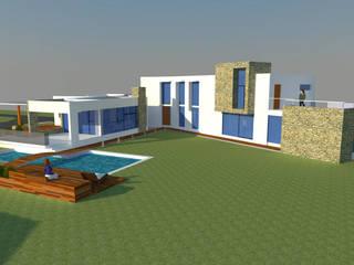 CASA EN BATUCO: Casas de estilo moderno por H2H arquitectos