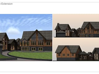 Log House Extension Drawings Orkun İndere Interiors
