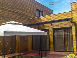 Casa Fuentes. Constitución. Chile CM Arquitecto Casas estilo moderno: ideas, arquitectura e imágenes Madera Acabado en madera