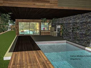 Casa Blanco. Constitución. Chile CM Arquitecto Casas estilo moderno: ideas, arquitectura e imágenes Multicolor
