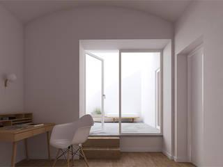 Projeto de reabilitação e ampliação Quartos modernos por atelier mais - arquitetura e design Moderno