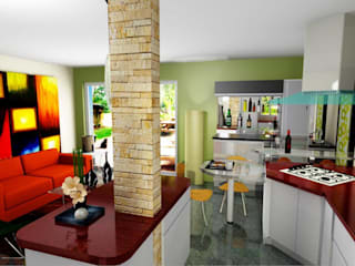 ESTUDIO DE ARQUITECTURA C.A ห้องครัว