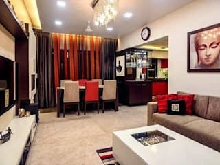 Proposed Interior Of 3BHK Flat:  Living room by KANAKIA INTERIOR AND CONSULTANCY