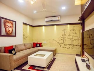 Proposed Interior Of 3BHK Flat Classic style living room by KANAKIA INTERIOR AND CONSULTANCY Classic