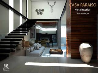 Casa Paraiso Salones minimalistas de Fermin de la Mora Minimalista