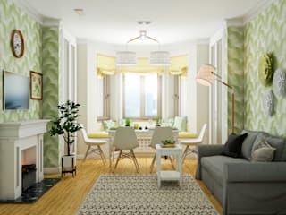 Living room by Marina Sarkisyan, Eclectic