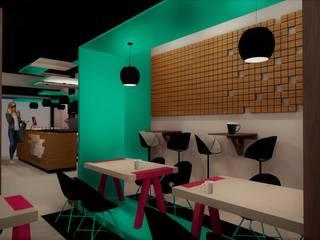 La Nueva Pastry Shop & Coffee: Comedores de estilo  por Esse Studio