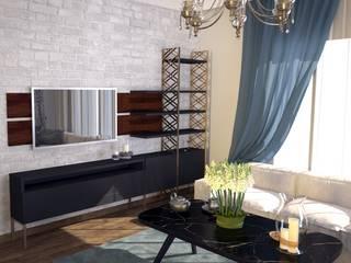Öykü İç Mimarlık – Villa Projelerimiz (3D):  tarz Oturma Odası