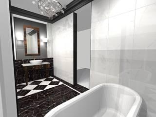 Projekt łazienki klasycznej: styl , w kategorii Łazienka zaprojektowany przez Pracownia projektowania wnętrz Beata Lukas