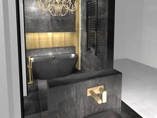 Projekt łazienki nowoczesnej: styl , w kategorii Łazienka zaprojektowany przez Pracownia projektowania wnętrz Beata Lukas