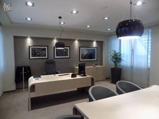 gabinet menadżera : styl , w kategorii  zaprojektowany przez Projektowanie Wnętrz ART LINE