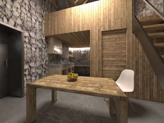 Baita Montagna: Cucina in stile  di SlowMonkey arch.