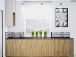 Cocinas de estilo  por Studio Aranżacji Agnieszka Adamek