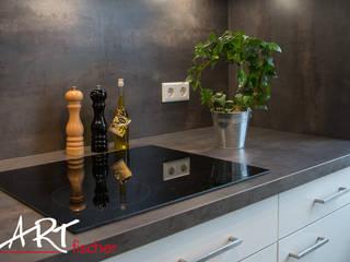 ARTfischer Die Möbelmanufaktur. Modern style kitchen Wood-Plastic Composite White