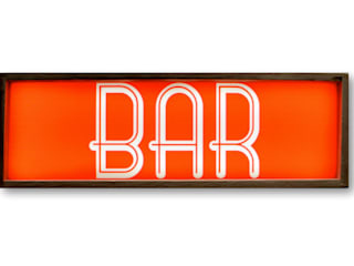 BAR Lightbox Light Up Wooden Illuminated Vintage LED Display Wall Plaque Sign Lamp Object Retro :   by Vintagist.com