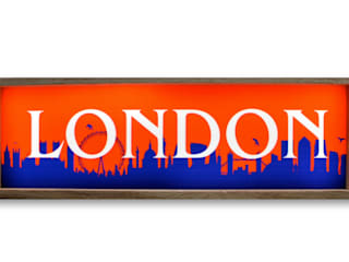 London Skyline Silhouette Light Up Box Wall Lamp Display Lamp Illuminated Vintage Sign:   by Vintagist.com