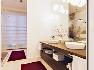 Annalisa Carli 現代浴室設計點子、靈感&圖片 木頭 Beige