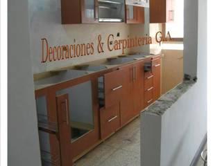 COCINA HAYA: Cocinas de estilo  por CARPINTERIA GUERRERO AMUNDARAIN