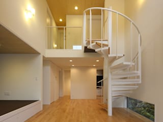 Mitsuike House 川島建築事務所 モダンデザインの リビング