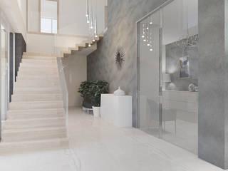 Dom w Margaretkach: styl , w kategorii Korytarz, przedpokój zaprojektowany przez JSK STUDIO