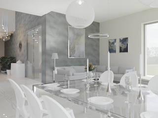 Dom w Margaretkach: styl , w kategorii Jadalnia zaprojektowany przez JSK STUDIO
