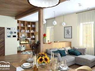 Phòng khách phong cách Bắc Âu bởi Студия 'Облако-Дизайн' Bắc Âu