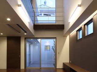 O-HOUSE 川島建築事務所 モダンデザインの リビング