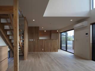 B-HOUSE 川島建築事務所 モダンデザインの リビング