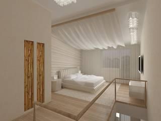 Воздушный интерьер студии на 2 уровнях: Спальни в . Автор – Студия Архитектуры и Дизайна Марии Тупикиной, Классический