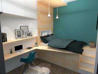 Une chambre sur mesure: Chambre de style de style Moderne par Laura Benitta Architecture d'intérieur et création de jardins