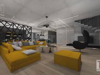 Dom  dla rodziny 2+2  / Warszawa Bemowo: styl , w kategorii Salon zaprojektowany przez TU Design
