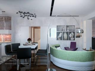 Living room by Студия дизайна интерьера Маши Марченко