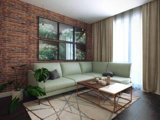 Scandinavian style living room by Студия дизайна интерьера Маши Марченко Scandinavian
