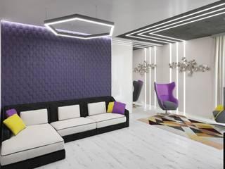Ruang Keluarga Minimalis Oleh Студия дизайна интерьера Маши Марченко Minimalis
