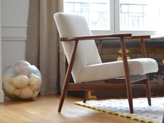 Détail mobilier - Appartement Paris 15e: Salon de style de style Moderne par A comme Archi