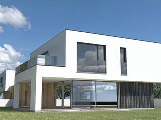 Budynek w zabudowie bliźniaczej - Tychy: styl , w kategorii  zaprojektowany przez MiA Projektowanie Michał Kanclerz