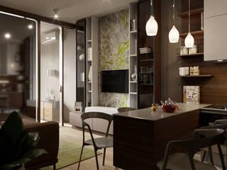 Ruang Keluarga Modern Oleh Студия дизайна интерьера Маши Марченко Modern