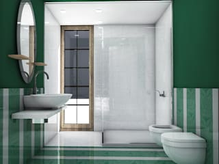 Ristrutturazione appartamento: Bagno in stile  di Maemarchitecture