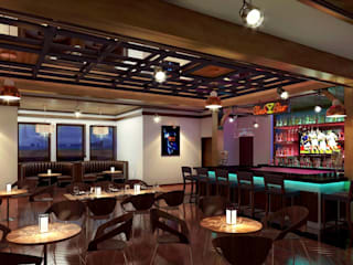 3D Bar Club Night View Interior Design Modern media room by KCL-Solutions Modern