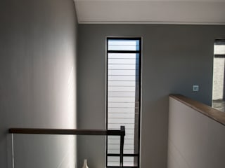 Tim Ziehl Architects Country style corridor, hallway& stairs Grey