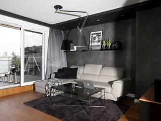 Mieszkanie 46 m2 na Muranowie: styl , w kategorii Salon zaprojektowany przez Kossakowska design,