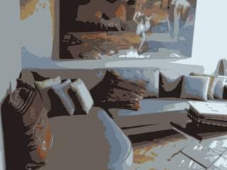 Stok Mimarlık / Tasarım / Atölye – Ata Demirer Evi: eklektik tarz tarz Oturma Odası