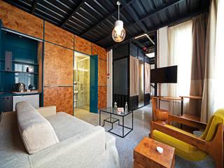 Stok Mimarlık / Tasarım / Atölye – Raven Suites: endüstriyel tarz tarz Oturma Odası