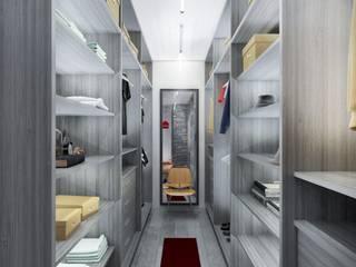 Vestidor en madera color gris. Dormitorios modernos de Soy Arquitectura Moderno Madera Acabado en madera