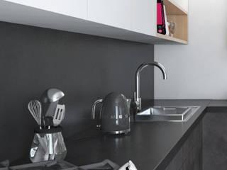 Industrialna kuchnia: styl , w kategorii  zaprojektowany przez Modeco Creative Studio