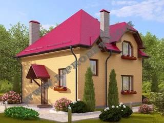 Проект 153 - Кирпичный дом:  в . Автор – СП ИНТЕГРАЛ-ПРОЕКТ