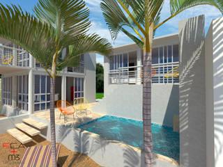 Casa en la playa: Casas de estilo minimalista por REA + m3 Taller de Arquitectura