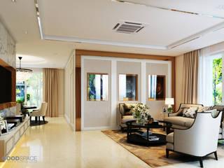 Glam interior- architect co.,ltd Raumbegrünung Glas Bernstein/Gold