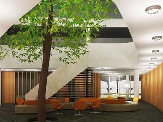 Interieurontwerp Helen Dowling instituut Bilthoven Moderne gangen, hallen & trappenhuizen van Tektor interieur & architectuur Modern
