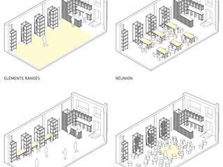 Mobilier modulable et local pour Boom'Structur par Atelier VOUS Minimaliste